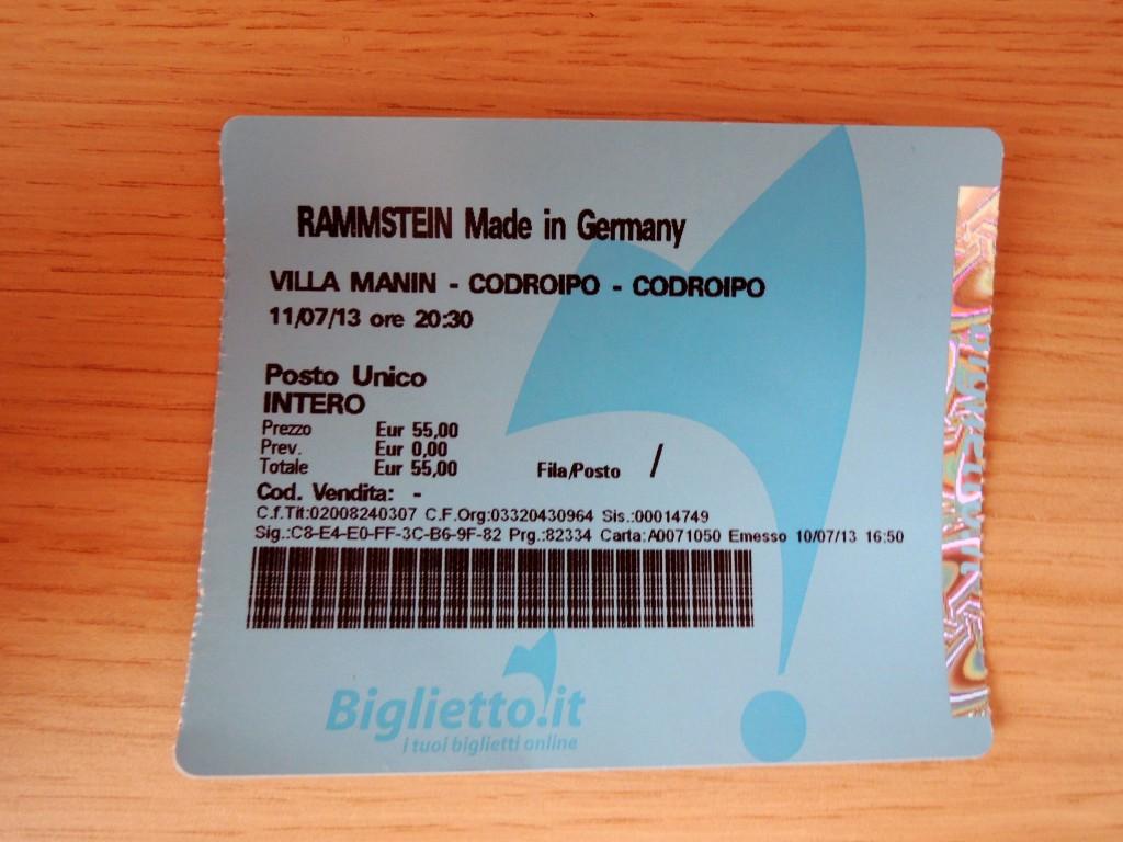 Rammstein – Codroipo, Villa Manin (11.7.2013)