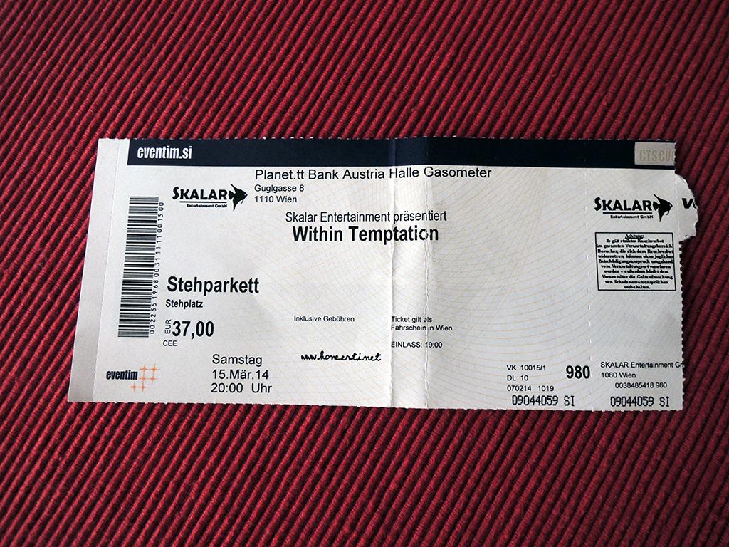 Within Temptation – Dunaj, Gasometer (15.3.2014)
