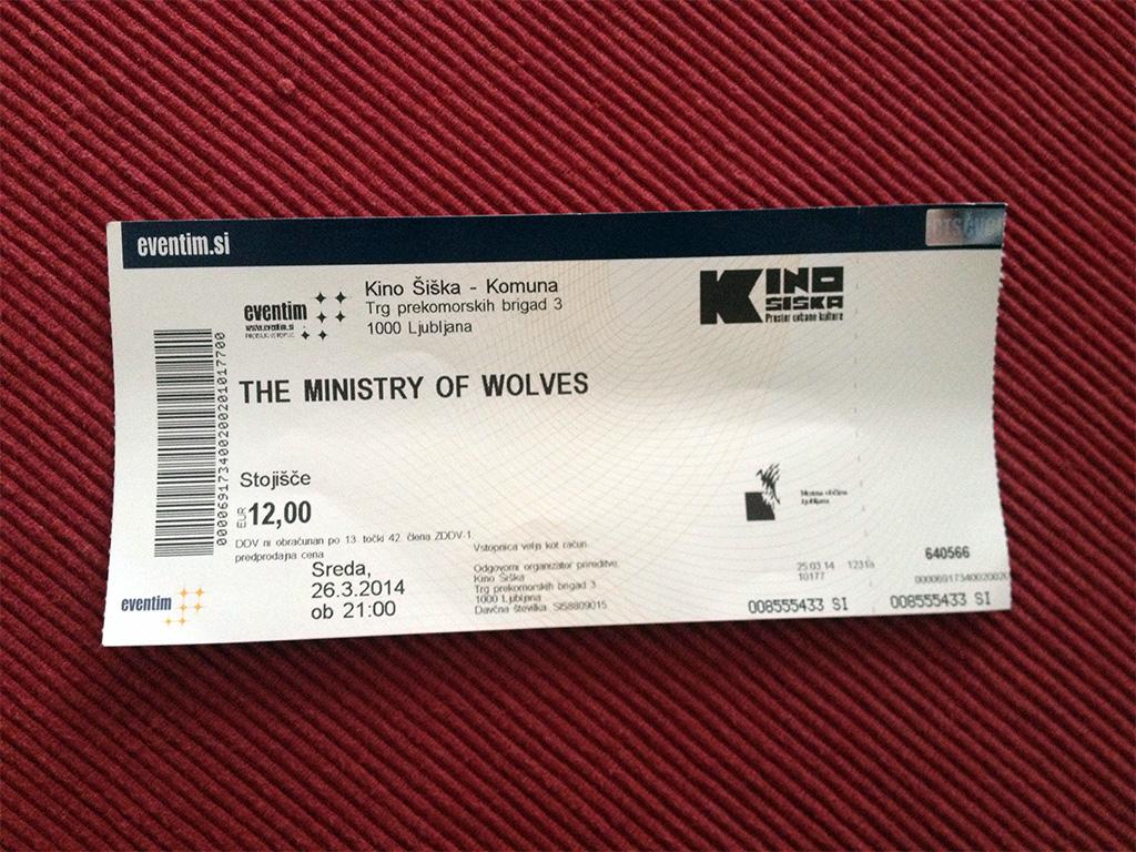 Ministry of Wolves – Ljubljana, Kino Šiška (26.3.2014)
