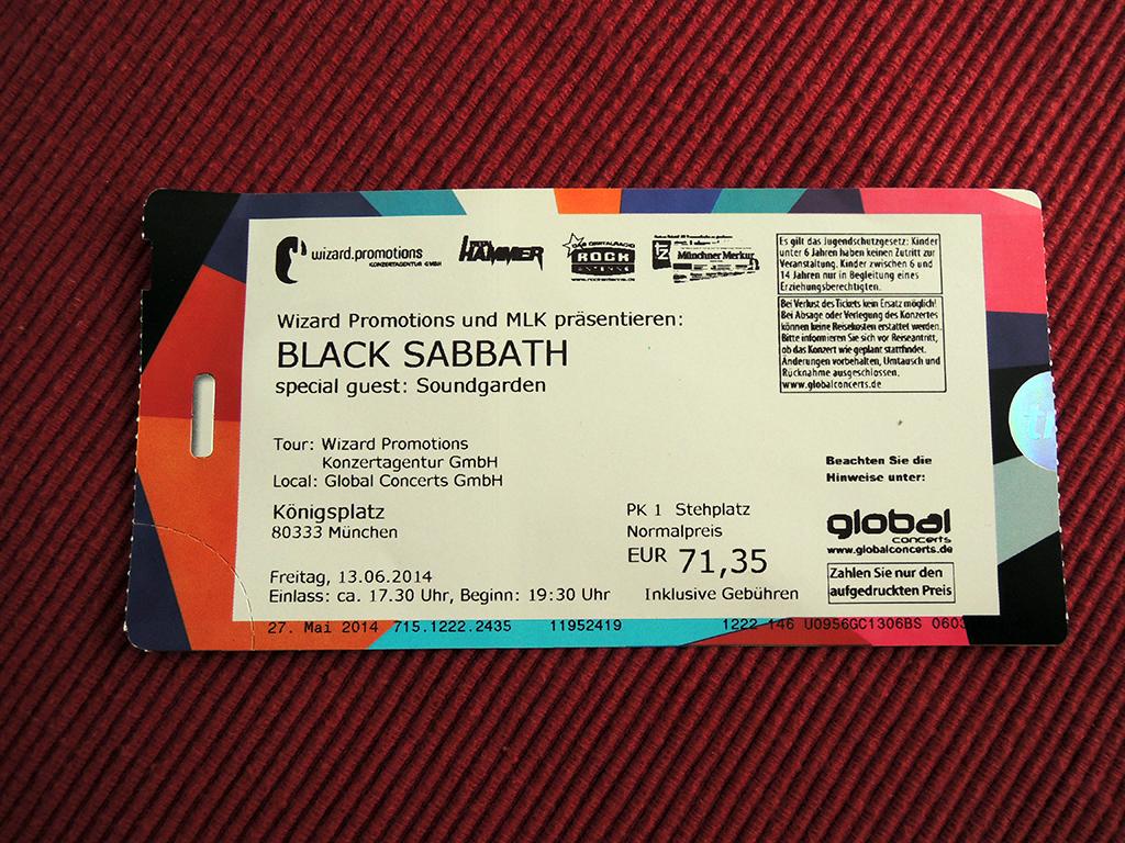 Black Sabbath – Königsplatz, München (13.6.2014)