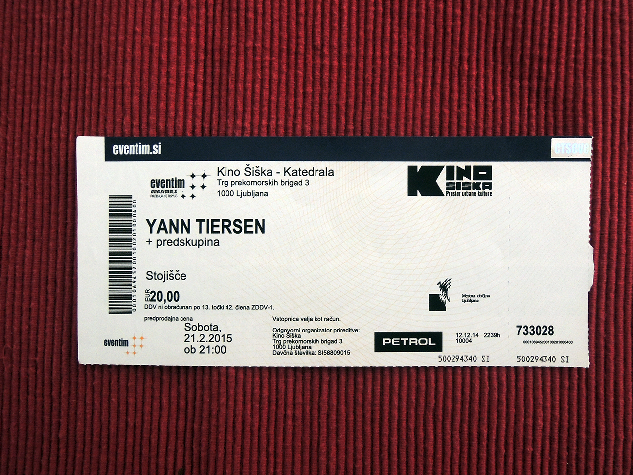 Yann Tiersen – Ljubljana, Kino Šiška (21.2.2015)