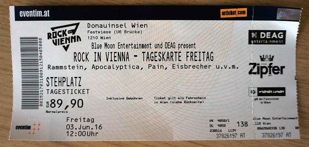 Rock in Vienna – Donauinsel, Dunaj (3.6.2016)