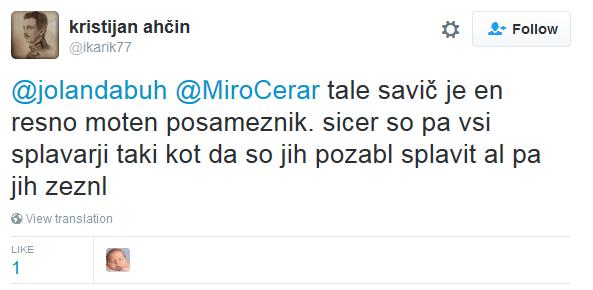 FireShot Screen Capture #207 - 'kristijan ahčin on Twitter_ _@jolandabuh @MiroCerar tale savič je e_' - twitter_com_ikarik77_status_735556305075765248