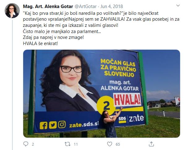 Ime česa je Alenka Gotar?